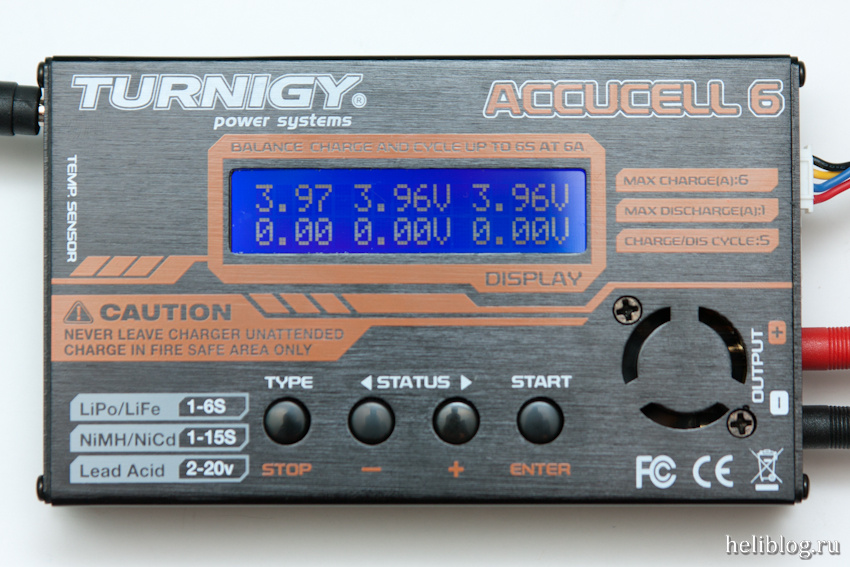 Turnigy Accucell 6 дисплей