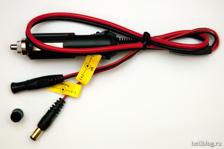 Штекер в прикуриватель автомобиля для подключения зарядника в полевых условиях